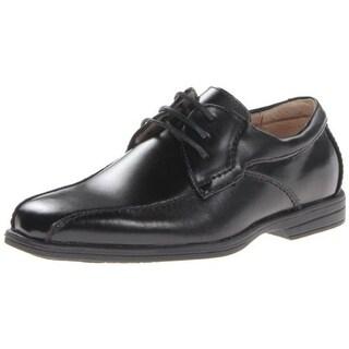 Florsheim Boys Reveal Bike Leather Uniform Derby Shoes - 3 medium (d)
