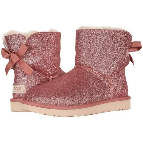 UGG Womens Mini Bailey Bow Sparkle Boot