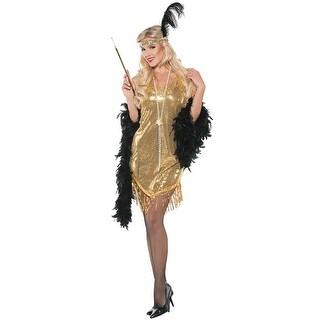 Underwraps Swingin Flapper Adult Costume (Gold) - Gold