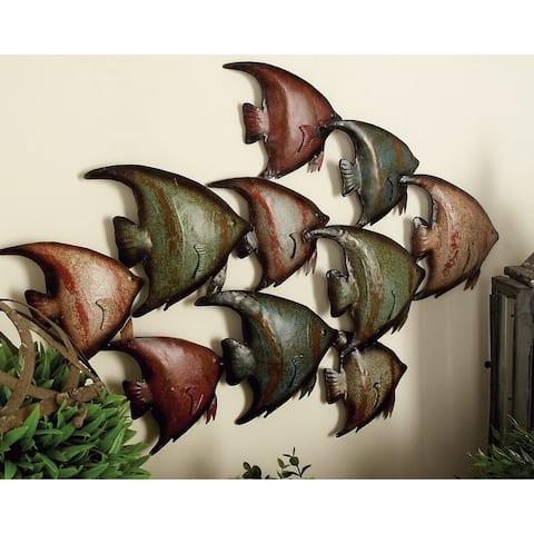 Copper Grove Multi Iron Coastal Wall Decor Fish