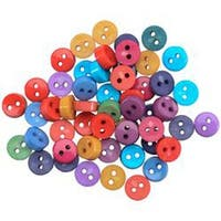 Dress It Up Embellishments-Tiny Round Gemtone Buttons