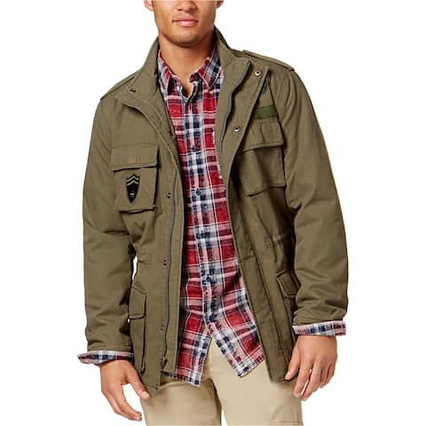 American Rag Mens Patched Field Jacket