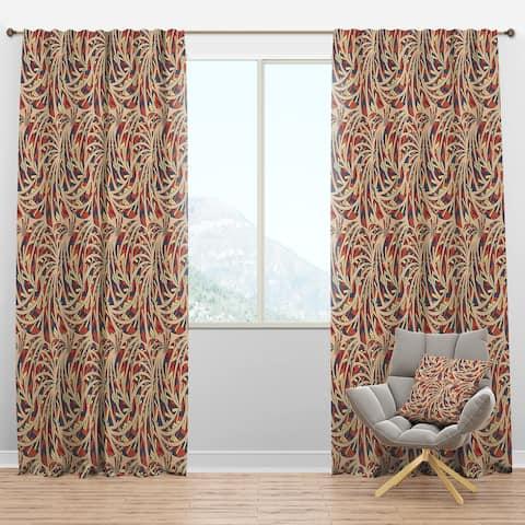 Designart 'Ethnic Pattern' Bohemian & Eclectic Blackout Curtain Panel