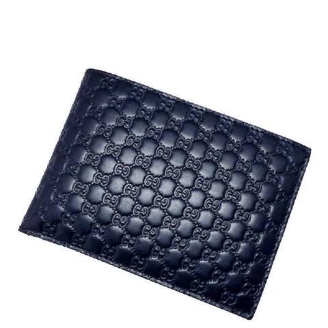 Gucci Men's Blue GG Microguccissima Leather Bifold Logo Wallet 292534 - M