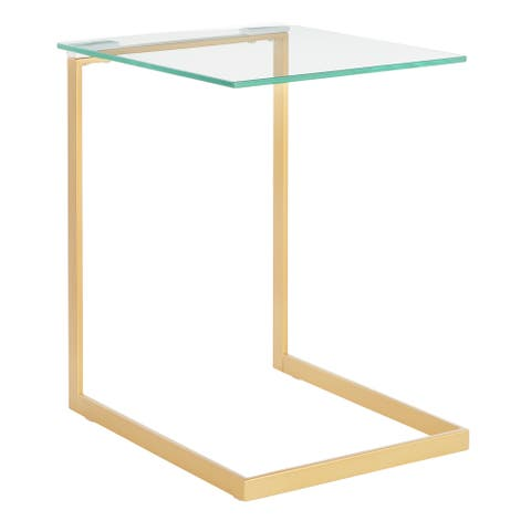 Zenn Contemporary Gold End Table - N/A