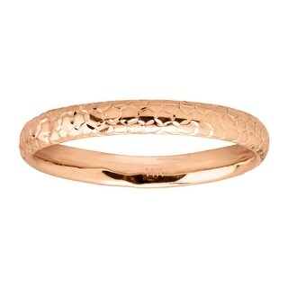 Eternity Gold Honeycomb Band Ring in 14K Rose Gold - Pink