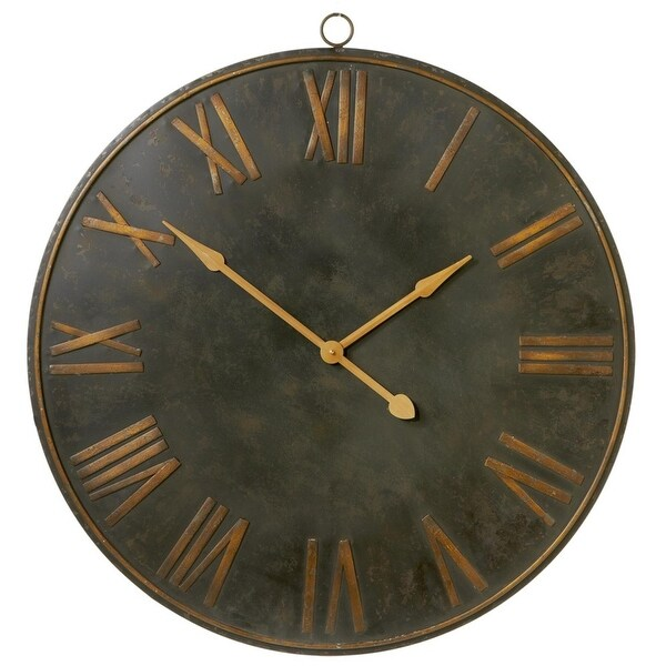 Shop 383 Distressed Black And Gold Colored Decorative Roman - 3-roman-numerals-clocks