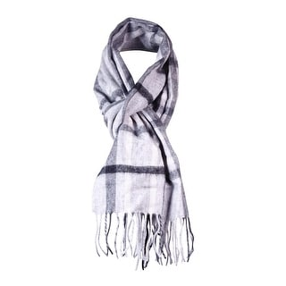 Charter Club Women's Fringed Plaid Cashmere Muffler Scarf - os