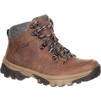"Rocky Women's 5"" Endeavor Point Waterproof Outdoor Boot Brown Full Grain Leather"