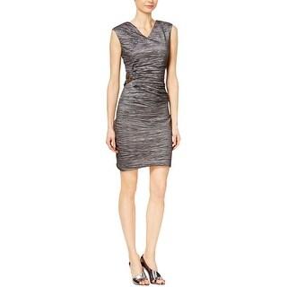Calvin Klein Womens Party Dress Metallic Sleeveless
