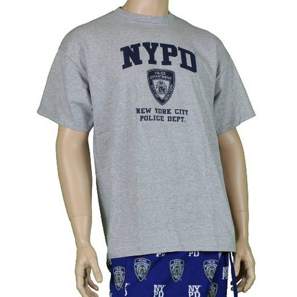 eca25720c Shop NYPD Short Sleeve Navy Print Logo T-Shirt Gray Large - Free Shipping On  Orders Over $45 - Overstock - 22992775