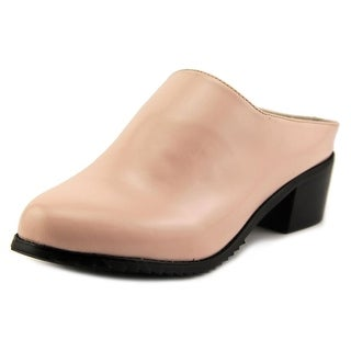 Intentionally Blank Oxnard Women Round Toe Leather Pink Mules