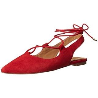 Franco Sarto Womens Snap Ballet Flats Suede Pointed Toe - 7 medium (b,m)
