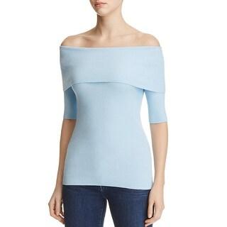 Michael Kors Womens Casual Top Ribbed Short Sleeve