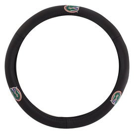 Pilot Automotive Black Leather University of Florida Gators Car Auto Steering Wheel Cover