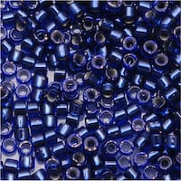 Miyuki Delica Seed Beads, 11/0 Size, 7.2 Grams, Silver Lined Montana Sapphire DB183