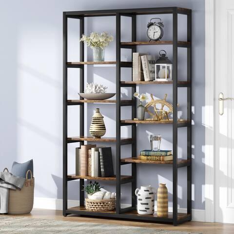 70-inch Bookshelf 10-shelf Open Bookcase - 70.86'' H x 39.37'' W x 11.8''L