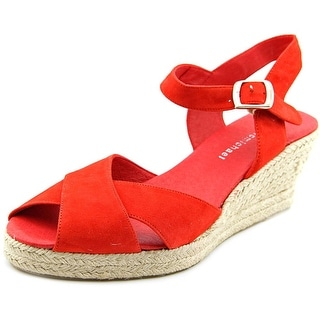 Eric Michael Alma Open Toe Suede Wedge Sandal