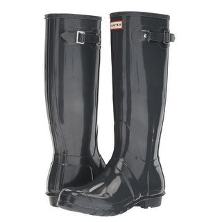 Link to Hunter Women's Original Tall Gloss Rain Boots (Dark Slate/ Size 6) Similar Items in Women's Shoes