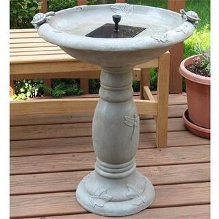 Smart Solar 20622R01 Country Gardens Solar Birdbath
