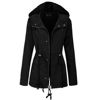Black cotton jacket women's