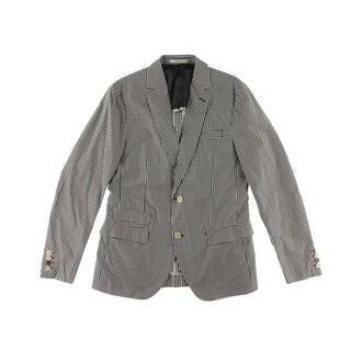 Zara Mens Checkered Long Sleeves Sportcoat