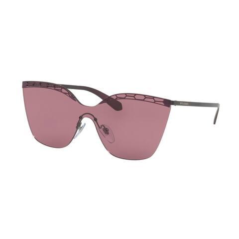 Bvlgari BV6093 20321A 37 Matte Plum Violet/plum Violet Woman Irregular Sunglasses