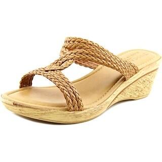 Easy Street Loano Women WW Open Toe Synthetic Wedge Sandal