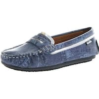Venettini Girls Vicky Casual Slip On Loafers Shoes - Blue