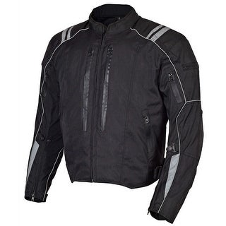 Men Motorcycle Textile Waterproof Windproof Jacket Black