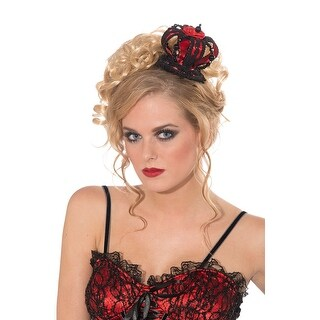 Forum Novelties Mini Evil Queen Crown - Red