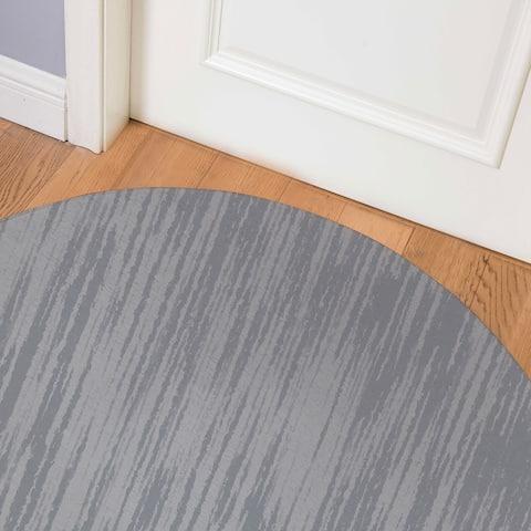 TEXTURE GREY Indoor Floor Mat By Kavka Designs