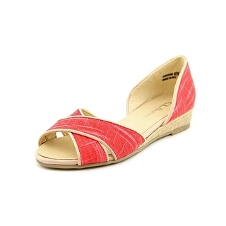 CL By Laundry Fortune Women Peep-Toe Canvas Flats