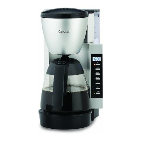 Capresso CM 200 10-Cup Coffee Maker (Black/Silver) (Renewed) - Black/Silver