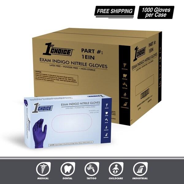 1st Choice Indigo Nitrile Exam Latex Free Disposable Gloves
