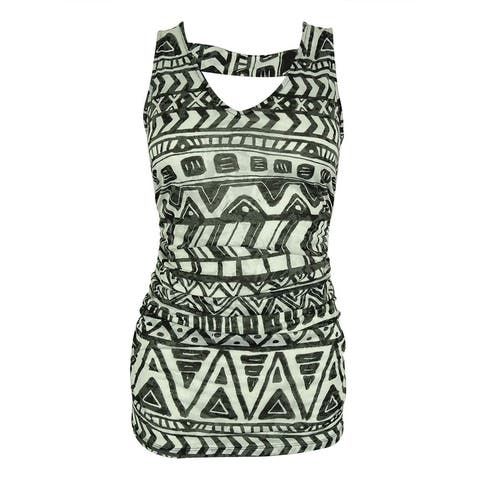 INC International Concepts Women's Sleeveless Ruched Top