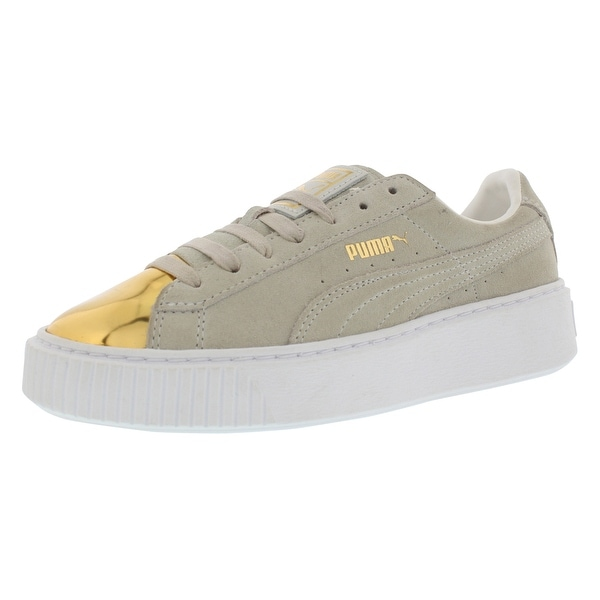 fdf86b634187 Shop Puma Suede Platform Gold Casual Women s Shoes - Free Shipping ...