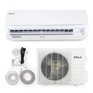 DELLA 12,000 BTU Wall-Mounted Heat Pump Inverter Air Conditioner w/ LCD Remote Control, 230V - 25 SEER