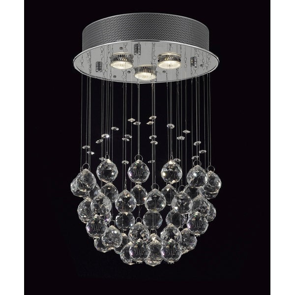 Modern Crystal Ball Chandelier Raindrop 3 Light Lighting Fixture