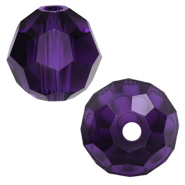 Swarovski Elements Crystal, 5000 Round Beads 6mm, 10 Pieces, Purple Velvet