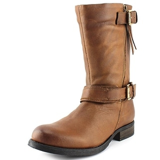 Steve Madden Kavilier   Round Toe Leather  Mid Calf Boot