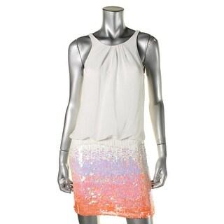 Aqua Womens Halter Paillettes Clubwear Dress - 10