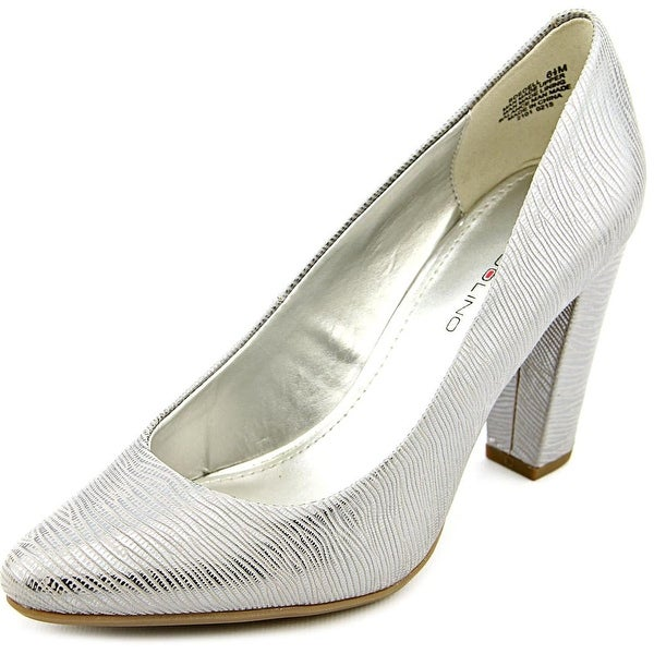 Bandolino Edell Women Pointed Toe Synthetic Silver Heels