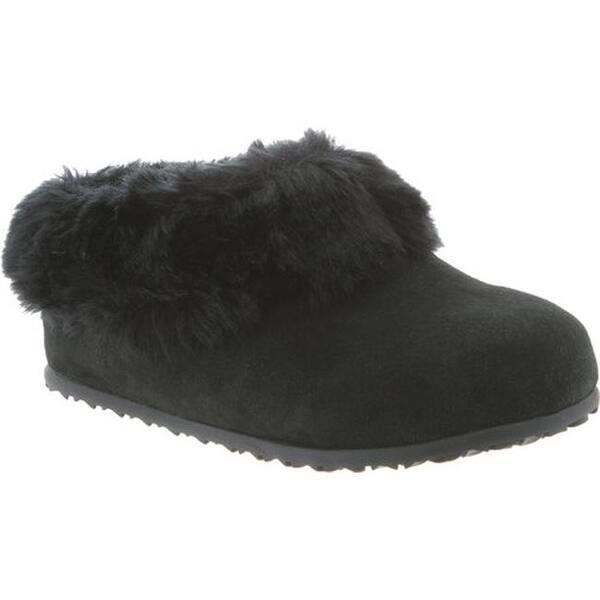 31f17ffe4458e Shop Bearpaw Women s Liliana Slipper Black II Suede Faux Rabbit Fur ...