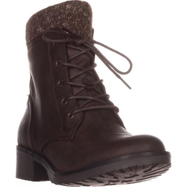 BareTraps Onnabeth Combat Boots, Dark Brown