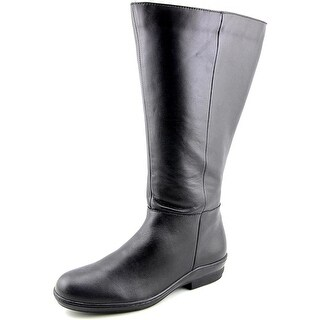 David Tate Morgan   Round Toe Leather  Knee High Boot