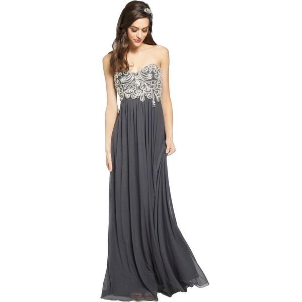 JVN by Jovani Womens Formal Dress Embellished Strapless