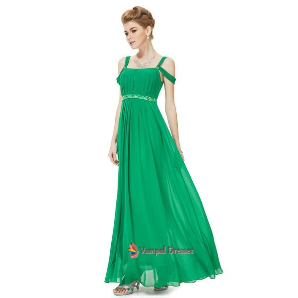 good texture cheaper buy online Shop Green Prom Dresses With Straps,Green Off Shoulder ...