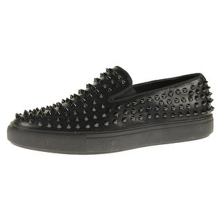 Steve Madden Mens Hyde Loafers Faux Leather Studded