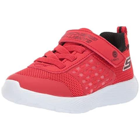 Skechers Kids Boys' Dyna-Lights Sneaker, Red/Black, 8 Medium Us Toddler